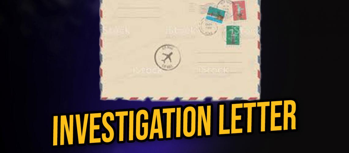 Investigation Letter